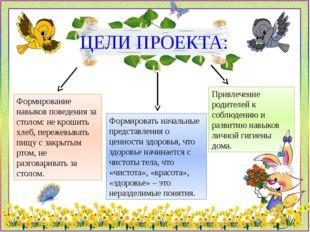 Привлечение родителей к соблюдению и развитию навыков личной гигиены дома. ЦЕ