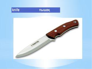 knife пышақ
