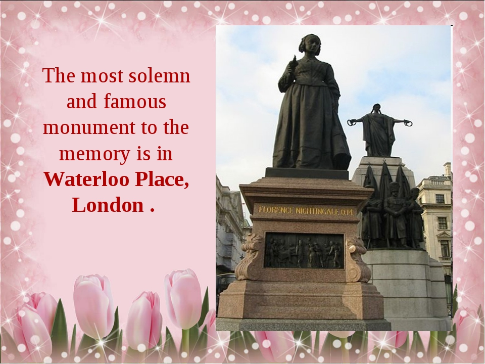 The most solemn and famous monument to the memory is in Waterloo Place, Londo...
