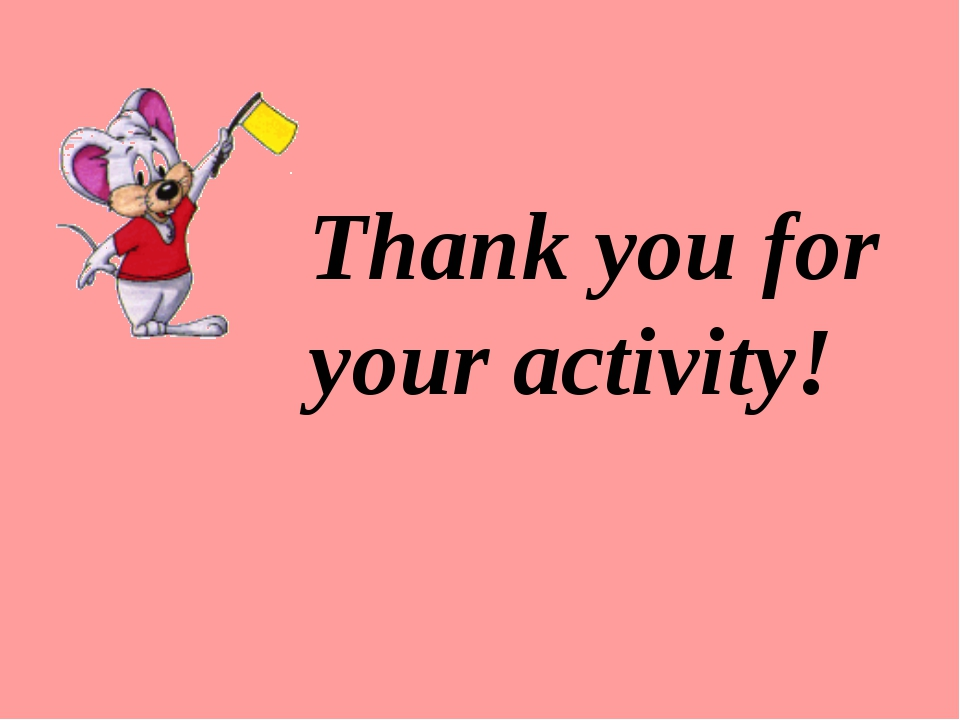 Thank you for your activity!