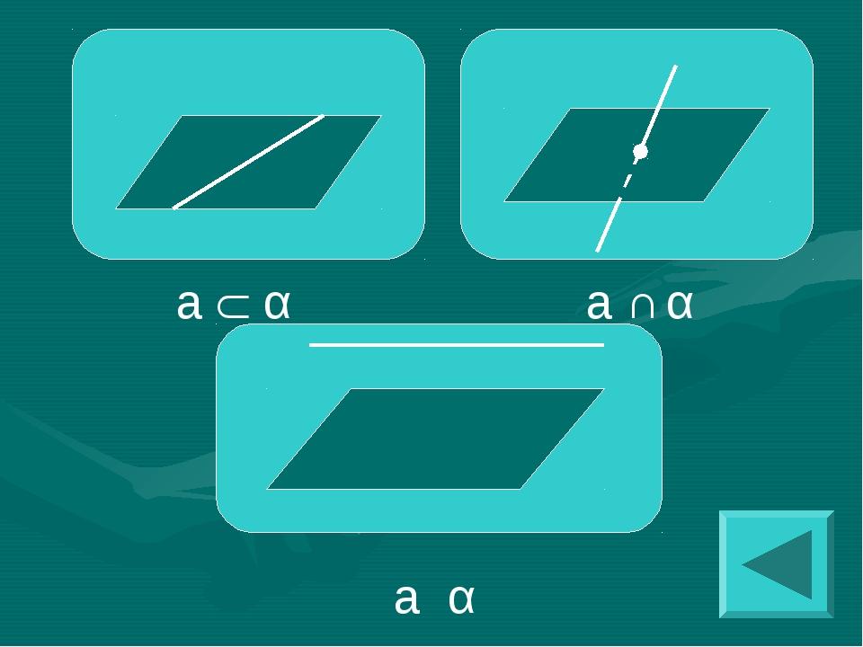 a  α a ∩ α a ׀׀ α