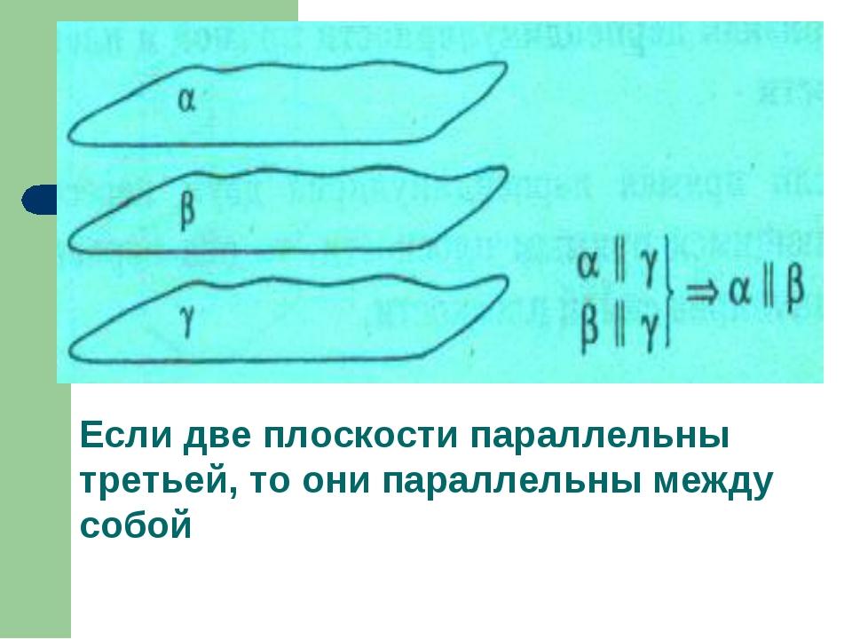 Если две плоскости параллельны третьей, то они параллельны между собой