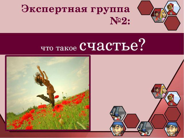 Экспертная группа №2: что такое счастье?