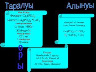 Жер бетінде Фосфат- Ca3(PO4)2 Апатит- Ca3(PO4)2 *CaF2 Адам организмінде Сүйек