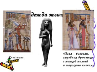 Одежда женщин Классирис Идеал – высокая, стройная брюнетка с тонкой талией и