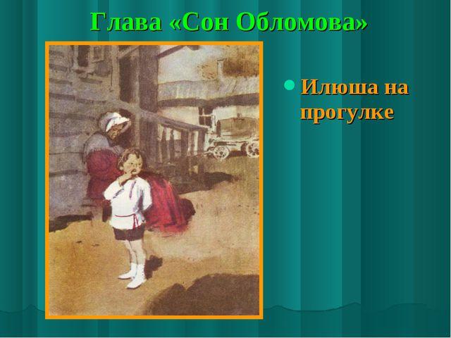 Глава «Сон Обломова» Илюша на прогулке