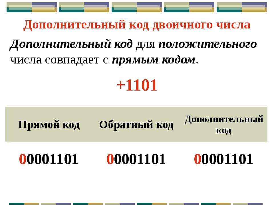 Для отрицательного числа дополнительный код образуется путем получения обратн...