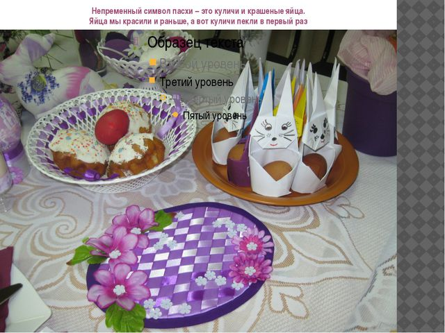 Непременный символ пасхи – это куличи и крашеные яйца. Яйца мы красили и рань...