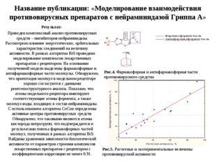 Название публикации: «Моделирование взаимодействия противовирусных препаратов
