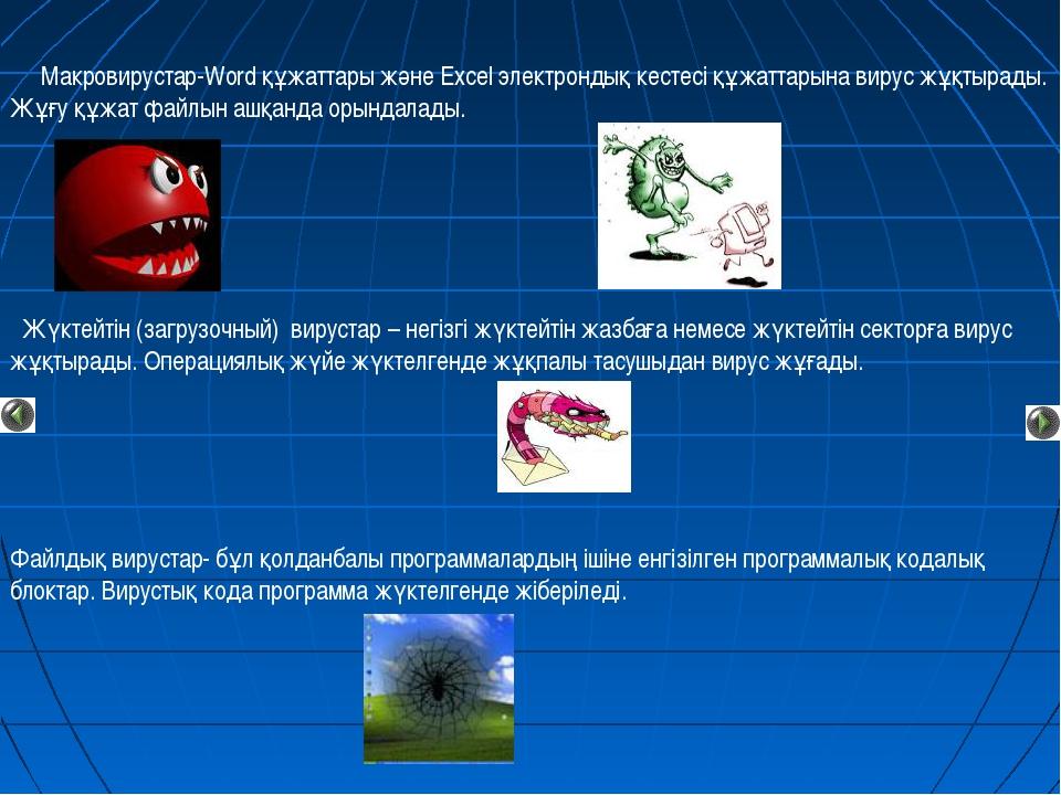 Макровирустар-Word құжаттары және Excel электрондық кестесі құжаттарына виру...