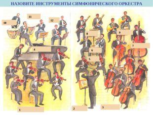 первые скрипки альты дирижёр литавры контрабасы фаготы флейты трубы виолончел