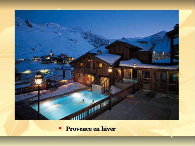 Provence en hiver