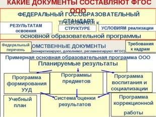 Примерная основная образовательная программа ООО Требования к кадрам КАКИЕ ДО