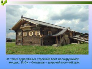 От таких деревянных строений веет несокрушимой мощью. Изба – богатырь – широк