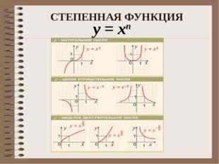 СТЕПЕННАЯ ФУНКЦИЯ у = хп