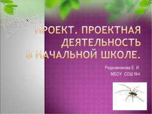 Редковникова Е. И. МБОУ СОШ №4