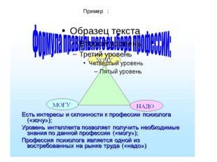 Пример :