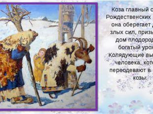 Коза главный символ Рождественских колядок, она оберегает дом от злых сил, п