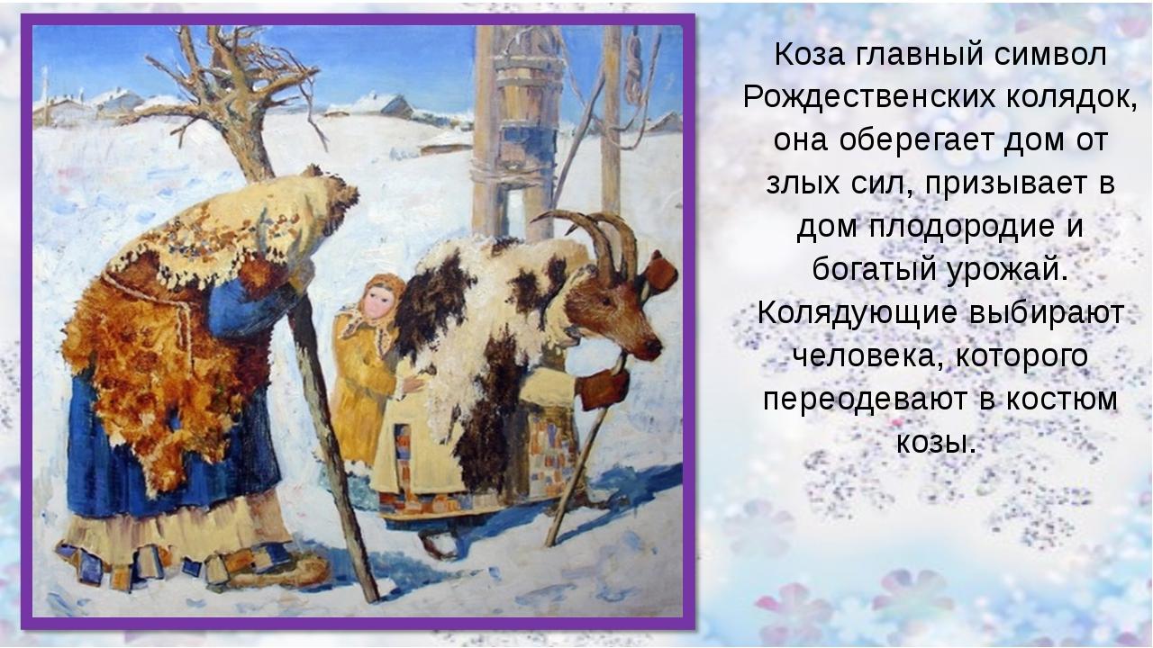 Коза главный символ Рождественских колядок, она оберегает дом от злых сил, п...