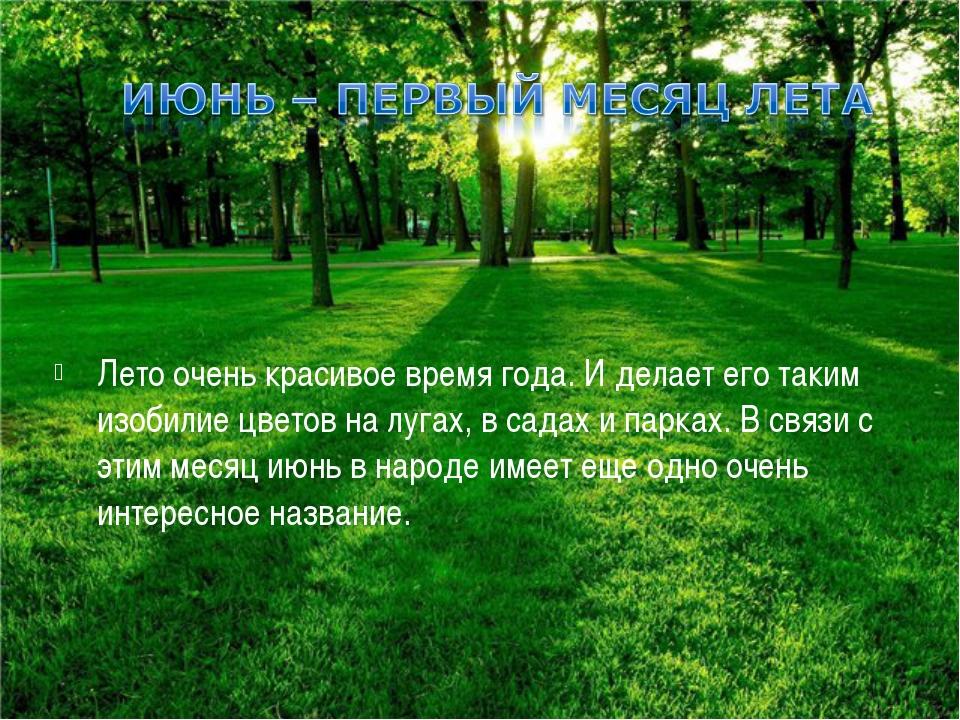 Лето очень красивое время года. И делает его таким изобилие цветов на лугах,...