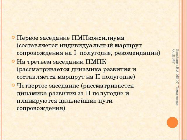 Первое заседание ПМПконсилиума (составляется индивидуальный маршрут сопровожд...