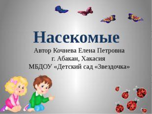 Насекомые Автор Кочнева Елена Петровна г. Абакан, Хакасия МБДОУ «Детский сад