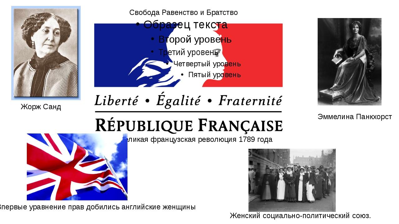 Великая французская революция 1789 года Свобода Равенство и Братство Жорж Сан...