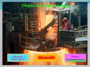 Отрасли специализации Цветная металлургия Лесная промышленность Рыбная промыш