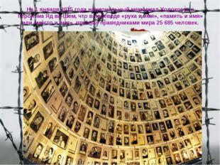 На1 января2015 года национальный мемориал Холокоста и ГероизмаЯд ва-Шем, ч