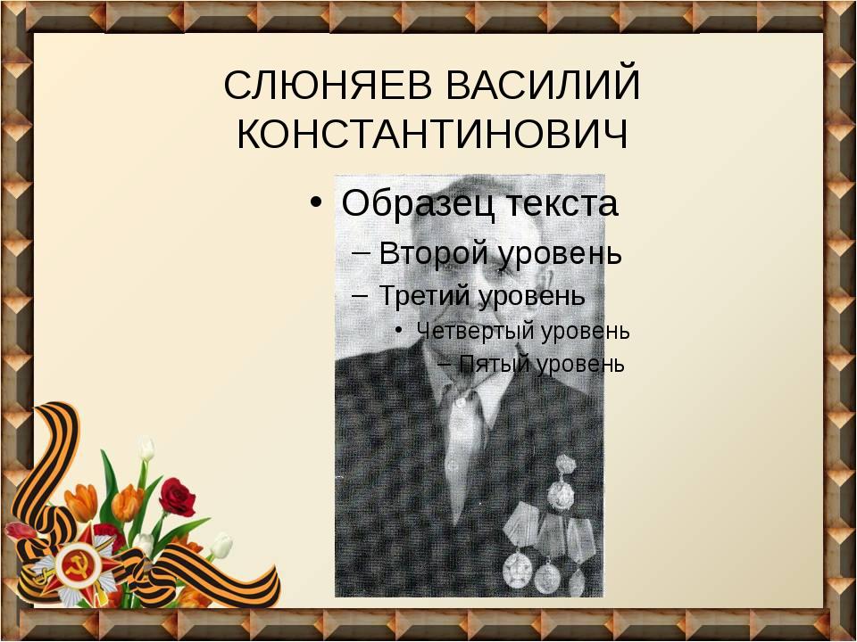 СЛЮНЯЕВ ВАСИЛИЙ КОНСТАНТИНОВИЧ