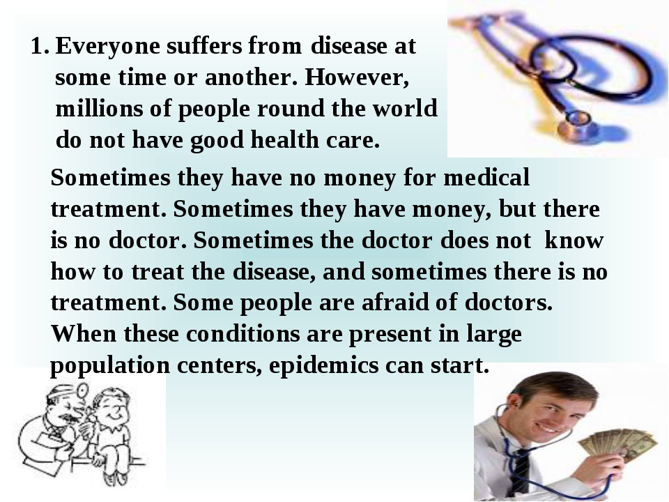 Everyone suffers from disease at some time or another. However, millions of p...