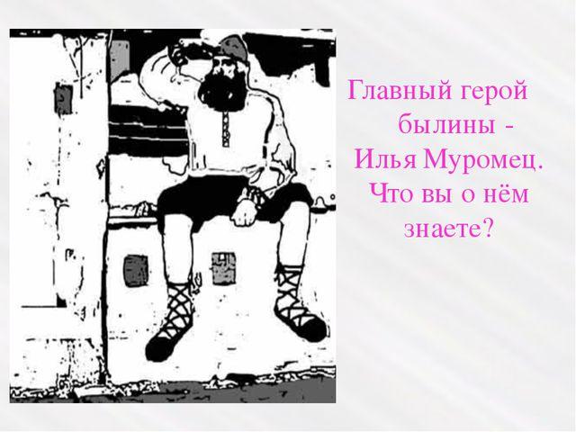 Славный защитник Руси – матушки, 33 года недвижно просидевший в избе. Калики...