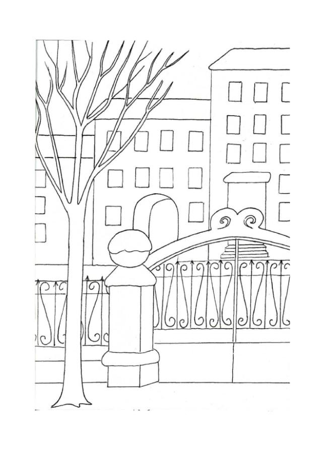 раскраски городского пейзажа раскраска по номерам