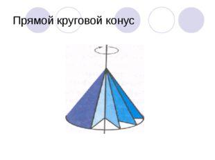 Прямой круговой конус