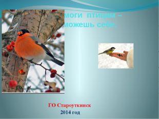 Помоги птицам – поможешь себе. ГО Староуткинск 2014 год