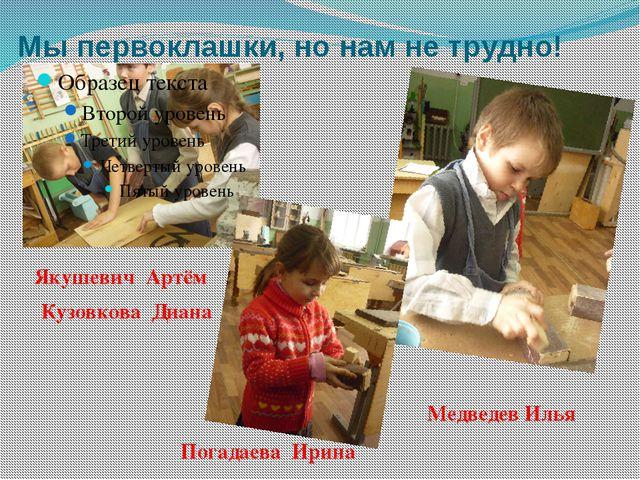 Мы первоклашки, но нам не трудно! Медведев Илья Якушевич Артём Кузовкова Диан...