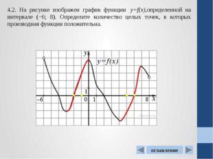 4.6. На рисунке изображен график производной функцииf(x), определенной на ин