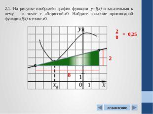 2.4. На рисунке изображен график функции у=f(x) ,определенной на интервале (-