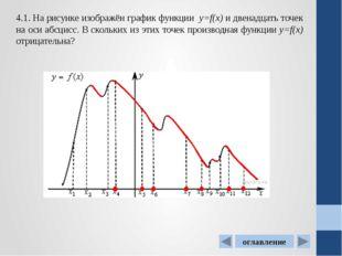4.5. На рисунке изображен график производной функцииf(x), определенной на ин