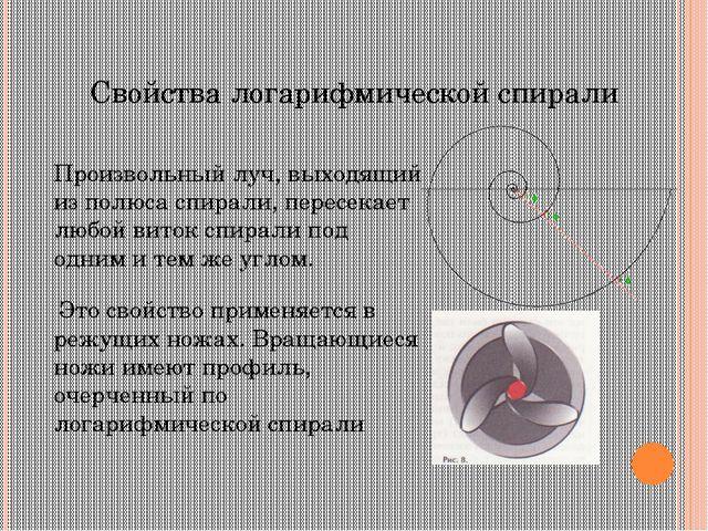 Знаменитости и спираль Впервые о логарифмической спирали говорится в письме...