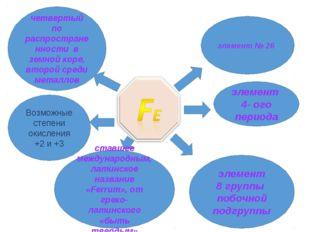 элемент 4- ого периода элемент 8 группы побочной подгруппы четвертый по распр