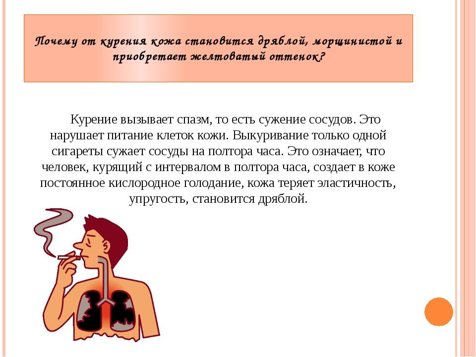 Почему от курения кожа становится дряблой, морщинистой и приобретает желтоват...