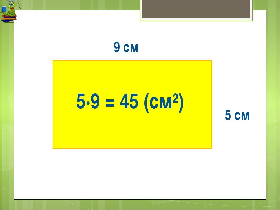 5 см 5·9 = 45 (см²) 9 см