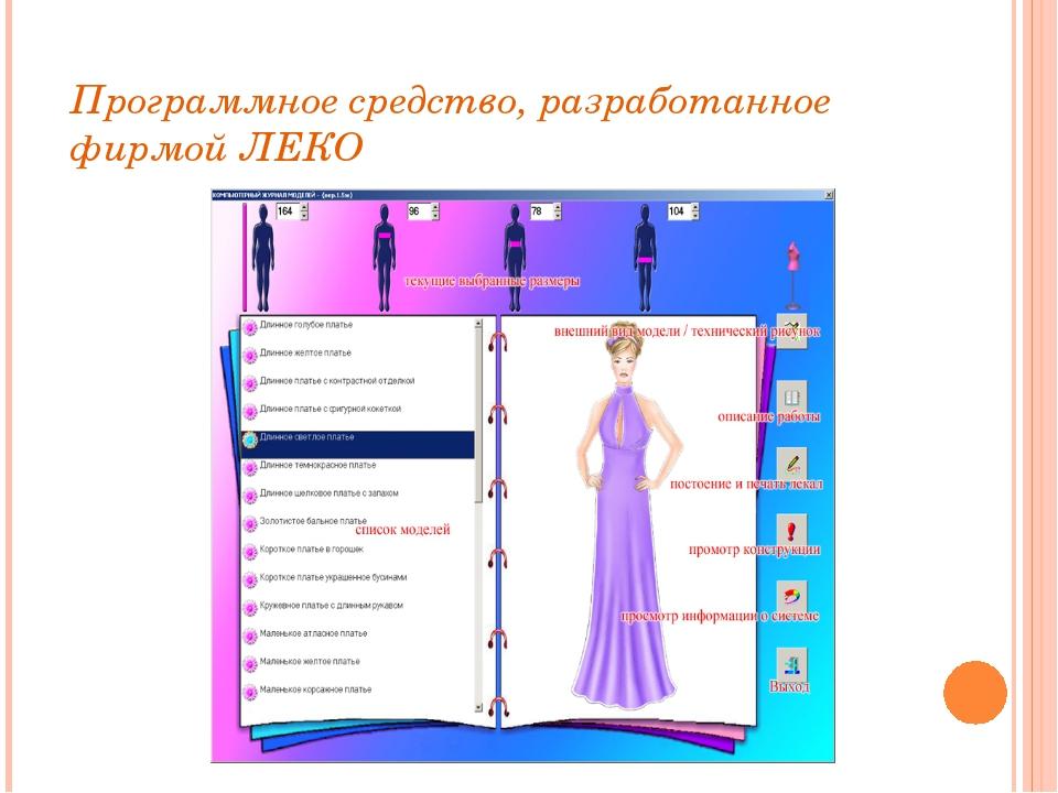 Программное средство, разработанное фирмой ЛЕКО
