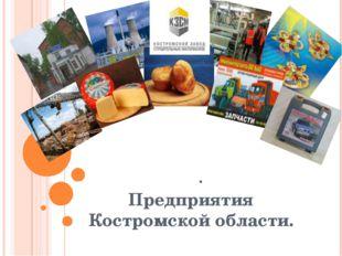 . Предприятия Костромской области.