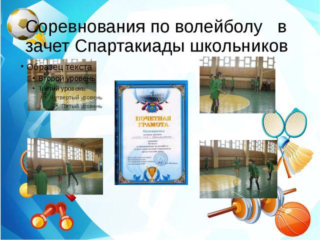 Соревнования по волейболу в зачет Спартакиады школьников