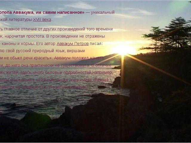 «Житие протопопа Аввакума, им самим написанное» — уникальный памятник русско...