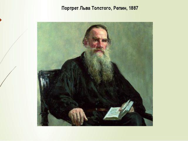 Портрет Льва Толстого, Репин, 1887