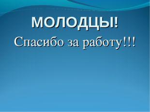 МОЛОДЦЫ! Спасибо за работу!!!