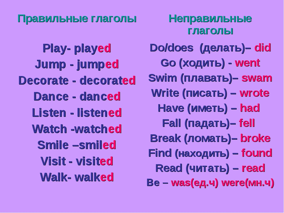 Глаголы состояния в английском языке Stative Verbs
